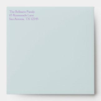 "Pastel Circles Envelope for 5.25"" Sq. Size"