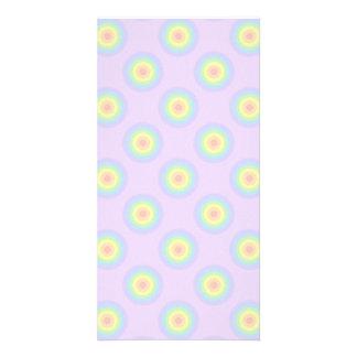 Pastel Circles Pattern. Photo Card