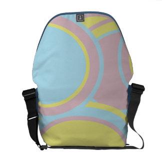 Pastel Circles Rickshaw Messenger Bag