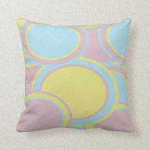 Pastel Circles Throw Pillow
