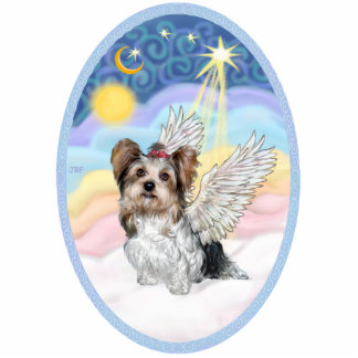 Pastel Clouds and Biewer Yorkshire Terrier Cutout
