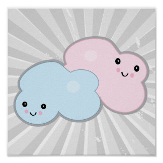 pastel clouds posters