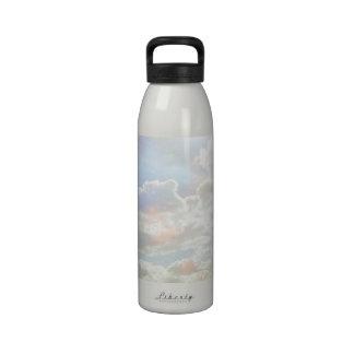 Pastel Clouds Water Bottle