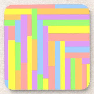 Pastel Collage Beverage Coaster