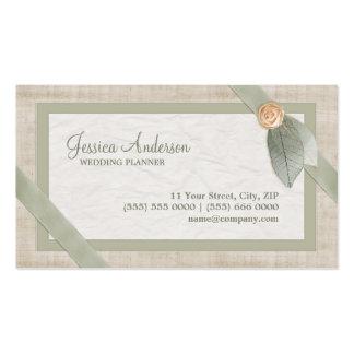 Pastel Collage Wedding Planner business card
