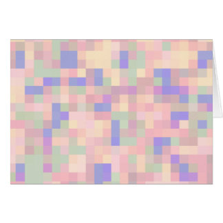 Pastel Color Abstract Design Greeting Card