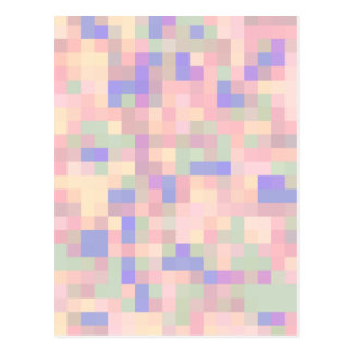 Pastel Color Abstract Design Postcard