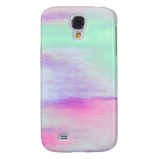 Pastel Color Aqua and Lavender Painting Galaxy S4 Cover