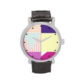 Pastel Color-Bloqueado Relojes De Mano