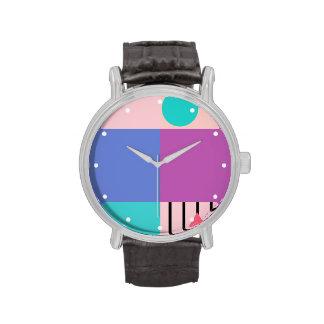 Pastel Color-Bloqueado Relojes
