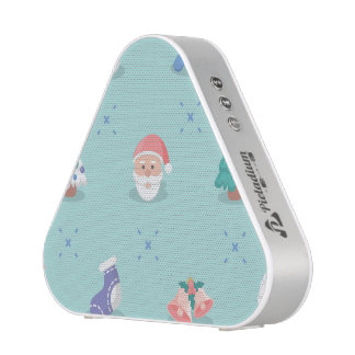 Pastel Color Christmas Characters Seamless Pattern Bluetooth Speaker