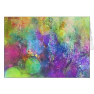 Pastel Color Circles Art Card