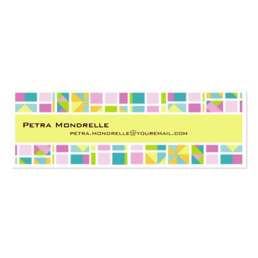 Pastel Color Grid Skinny Business Card