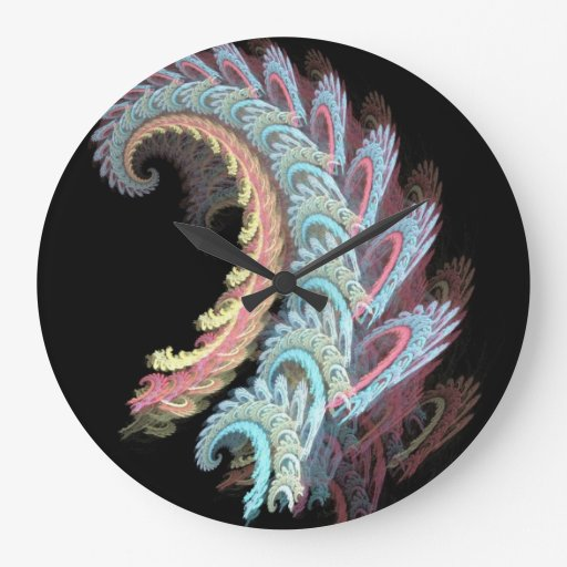 Pastel Color Paisley Fractal Art Design Gifts Wall Clock