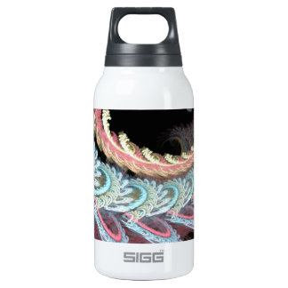 Pastel Color Paisley Fractal Art Design Insulated Water Bottle