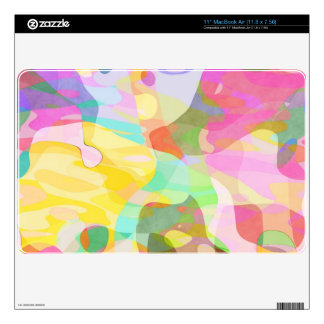 Pastel Color Pieces Abstract Art Design Decals For The MacBook