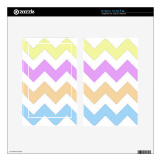 Pastel color pink, yellow and blue zigzag strips. kindle fire decal