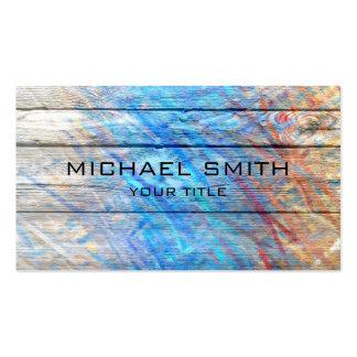 Pastel coloreado en la madera #2 tarjetas de visita