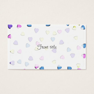 Pastel Colored Candy Hearts Business Card