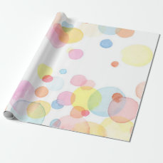 Pastel Colored Circles Matte Wrapping Paper