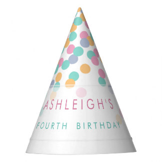 Paper Hats - Pastel Colored Confetti | Kids Birthday Party Party Hat