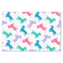 Pastel Colored Dachshunds Tissue Paper