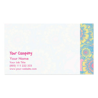 Pastel colored daisies business card
