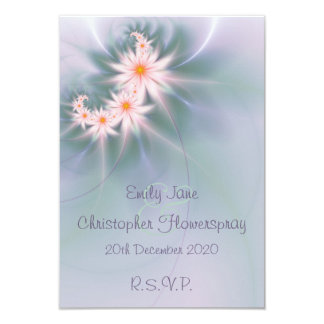 Pastel colored daisies wedding RSVP Card
