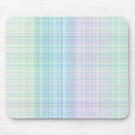 pastel colored gingham pattern mouse pad