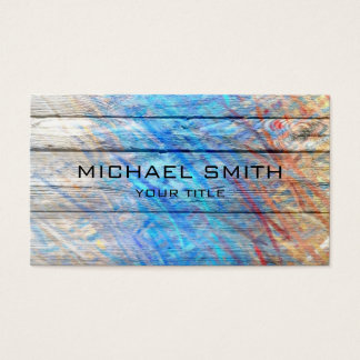 Pastel Colored on Wood #2 Business Card