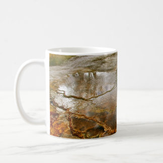 PASTEL COLORED VOLCANIC MINERALS IN YELLOWSTONE COFFEE MUG