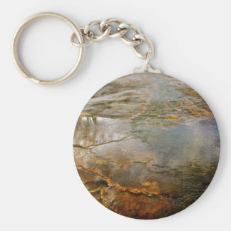 PASTEL COLORED VOLCANIC MINERALS IN YELLOWSTONE KEYCHAIN
