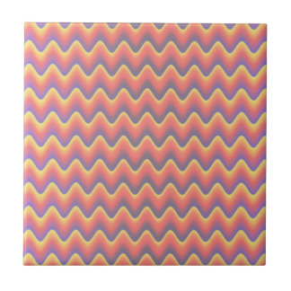 Pastel Colored Waves Tile