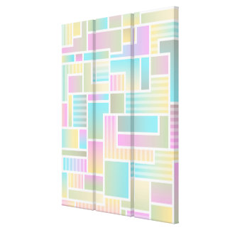 Pastel Colorful Abstract Art Wall Canvas