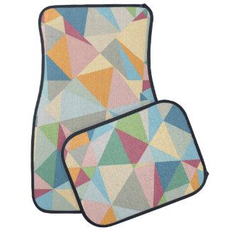 Pastel Colorful Modern Abstract Geometric Pattern Car Mat