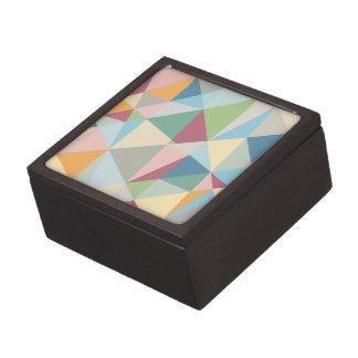 Pastel Colorful Modern Abstract Geometric Pattern Premium Keepsake Box
