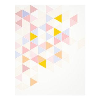 Pastel colorful modern surface design background letterhead