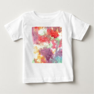 Pastel colorful watercolour background image baby T-Shirt