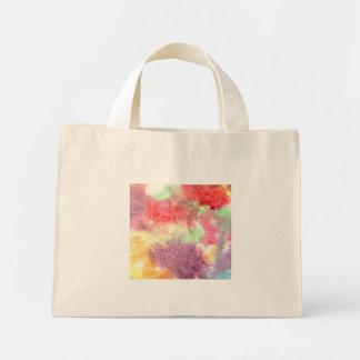 Pastel colorful watercolour background image canvas bags