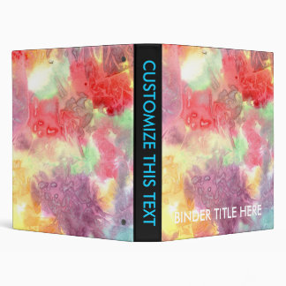 Pastel colorful watercolour background image 3 ring binders