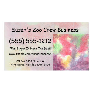 Pastel colorful watercolour background image business cards