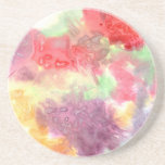 Pastel colorful watercolour background image coaster