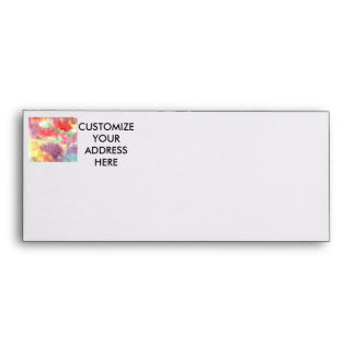 Pastel colorful watercolour background image envelope