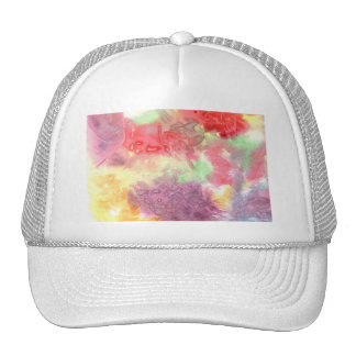 Pastel colorful watercolour background image trucker hats