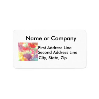 Pastel colorful watercolour background image custom address labels
