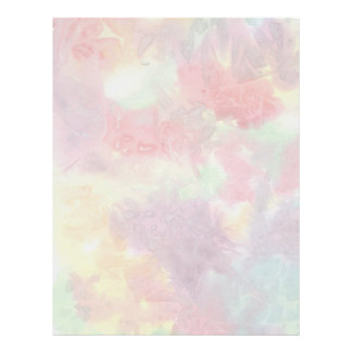 Pastel colorful watercolour background image customized letterhead