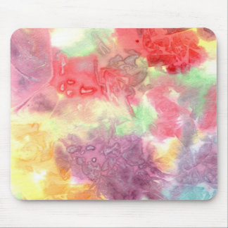 Pastel colorful watercolour background image mouse pad