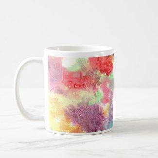 Pastel colorful watercolour background image mug