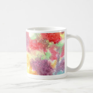 Pastel colorful watercolour background image coffee mugs