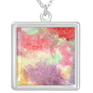 Pastel colorful watercolour background image necklaces